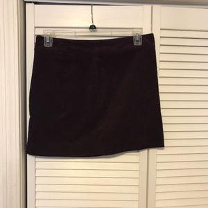 Purple Chord Mini Skirt